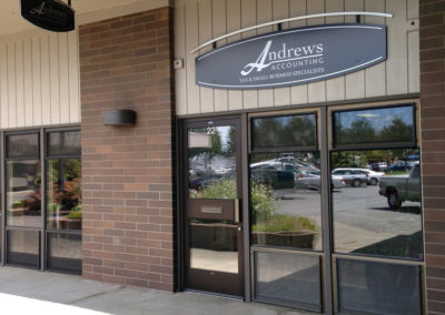 The store front of Andrews Tax Accounting and Bookkeeping.