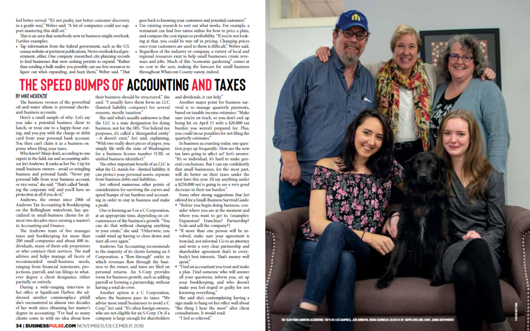 Find us in the Latest Bellingham Business Pulse!