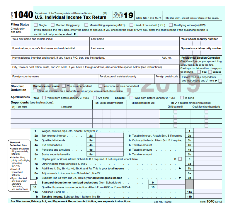 IRS Looks To Update Form 1040