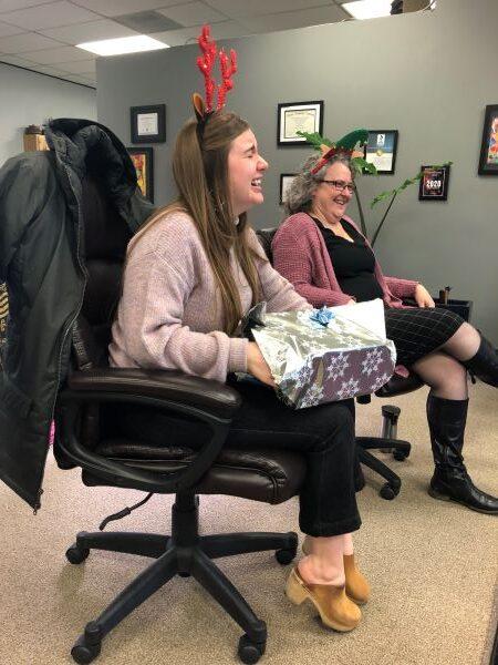 julia receives vases from her secret santa